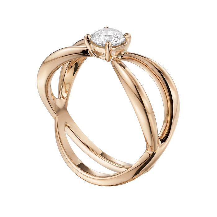 vente Solitaire  Créateurs Diamant or LA VIE EN ROSE