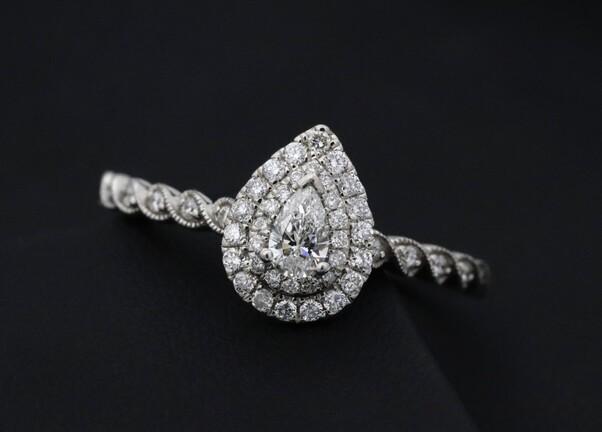 Solitaire diamant platine