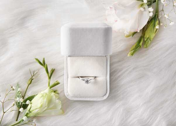 Diamant bague or blanc