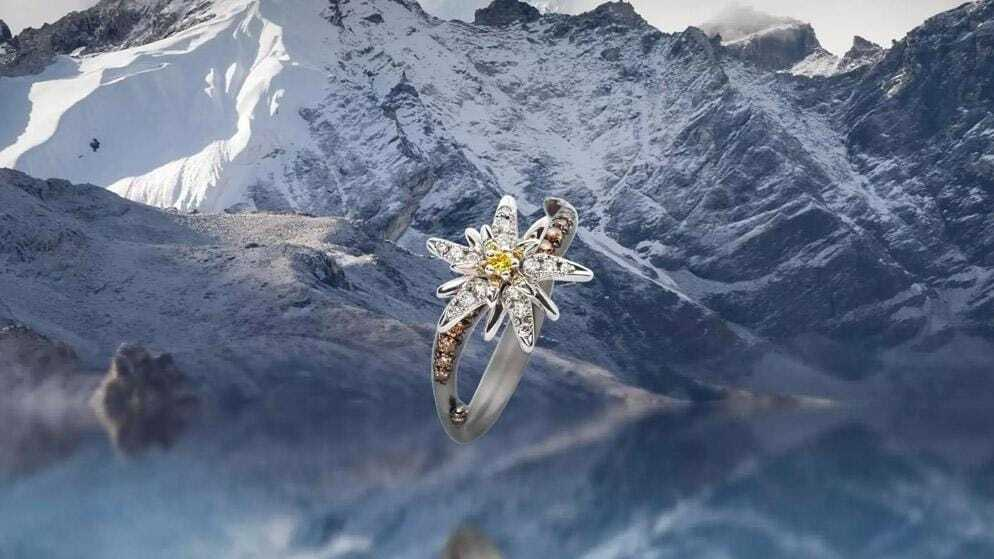 Bague fleur Edelweiss diamant